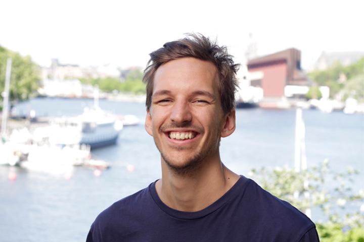 The founder of Vespa Tours in Stockholm Peter Ekblom